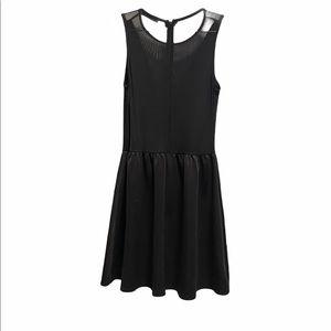 The Vintage Shop Little Plunge Black Skater Dress